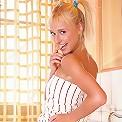 Hanna - Cute teen creams up her tight body