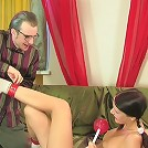Two steamy rounds of girl-n-dad sex