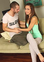 Nubiles.net Savina - Adorable teen Savina really loves her pussy getting rammed on the couch
