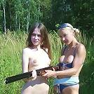 2 Teen Hotties And A Shotgun!!
