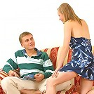 Teen couple practicing new sexual positions