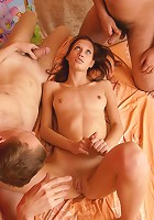 Teen gets pounded by two guys