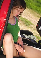 Young couple fucking on the picnic