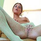 Sweet 18yo Caprice revealing her perky titties